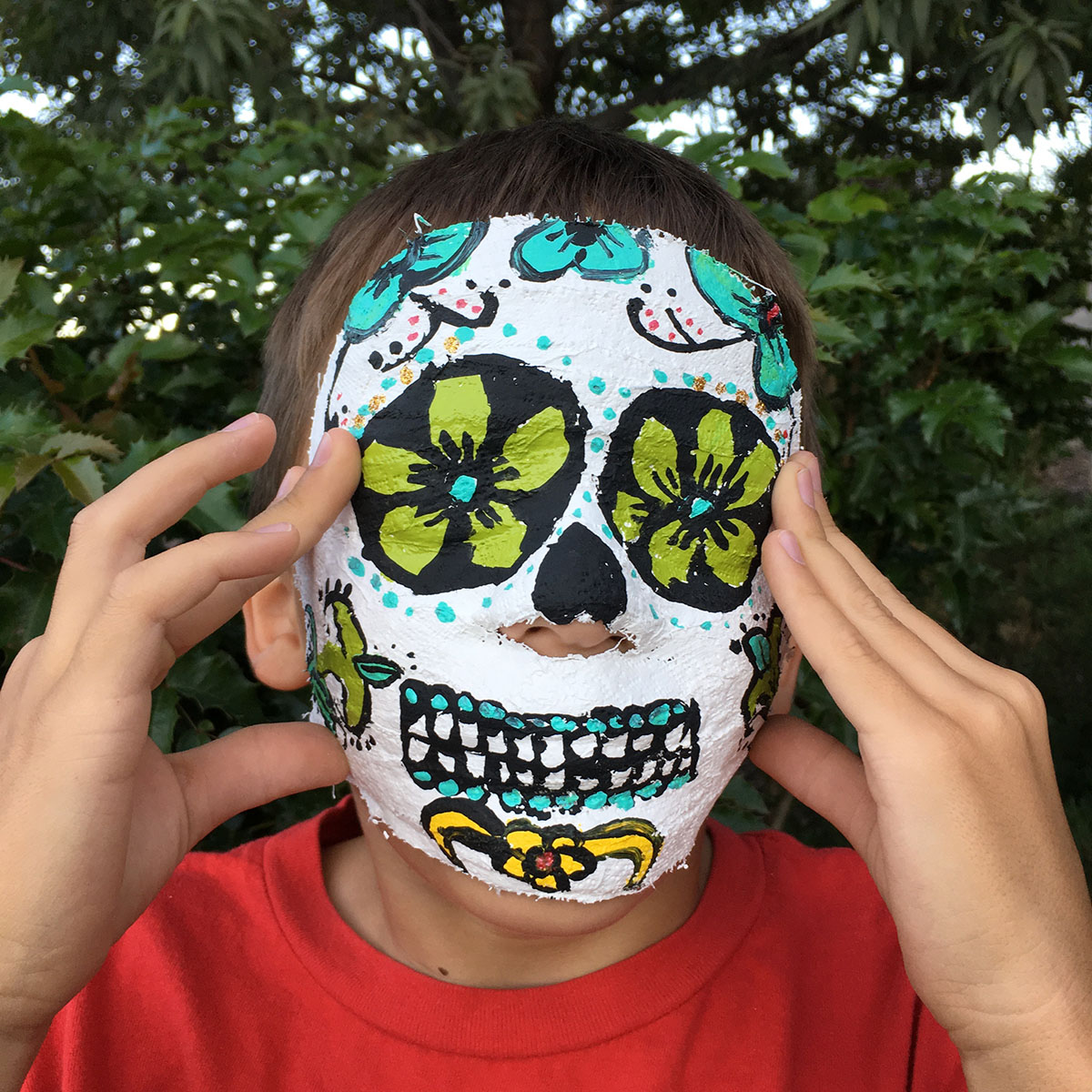 day of the dead mask making